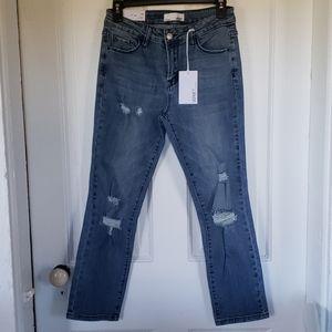 NWT Vervet Mila distressed crop jeans sz 27